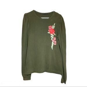 Zara Light sweater with embroidered flower